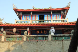 台湾台南市「赤嵌楼」赤嵌楼を見上げる