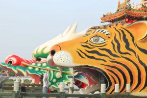 龍虎塔(ほうせいたいてん)」虎の口からの光景