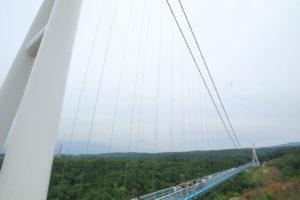 「三島スカイウォーク」つり橋の全景