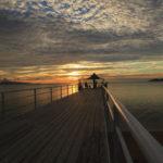 石垣島「フサキビーチ」日没直前の桟橋風景