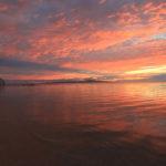 石垣島「フサキビーチ」茜色一色に染まる空と海の世界