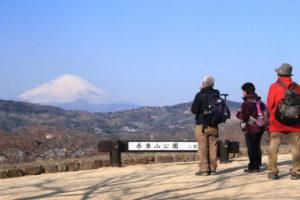 神奈川「吾妻山公園」頂上からの富士
